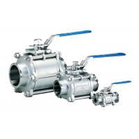 Full Port 3 Piece Stainless Steel Ball Valve , Gas / Water 1 / 4 Inch Ss Ball Valve Manufactures