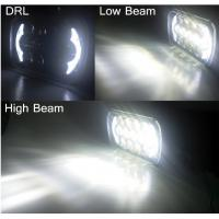 Quality Jeep Wrangler 85w Cree 7 Inch Black Projector LED Headlights With DRL, High / Low beam for sale