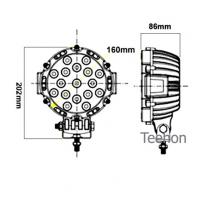 51W Round LED Driving Light (LED work lamp) and LED Work Light in Oga Brand Manufactures