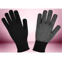 Blue Freezer Knitted Working Hands Gloves Custom Logo Silicone Printing Manufactures