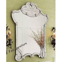 Garment Design Venetian Wall Mirror Flowers Etching 4mm Beveled Mirorr Manufactures