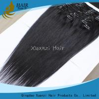 Brazilian One Piece Hair Extensions , Loose Wave Indian Remy Weave Nature Black Manufactures