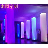 Cylindrical Shaped Inflatable Marketing Products Lighted Outdoor Christmas Decorations Manufactures