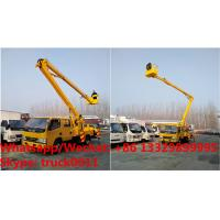 International Standard High Attitude Working Truck 18 to 22 meter High lifting platform truck, overhead working truck Manufactures