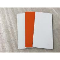 Quality White / Sliver Outdoor Aluminum Sign Panels 4mm Thickness With Fire Resistance for sale