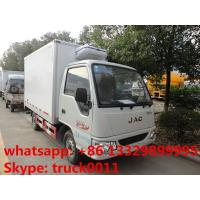 JAC mini gasoline cold room truck for sale, hot sale JAC brand  gasoline 82hp refrigerated truck for ice-cream for sale Manufactures