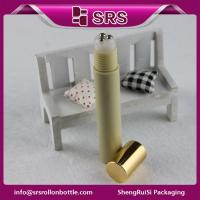 Cosmetic luxury 15ml plastic bottle with three steel roller ball Manufactures