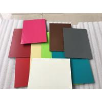 Red Aluminum Composite CladdingMaterial 1550 X 5500 X 5mm With 0.50mm Alu Thickness Manufactures