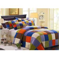 Hand Sewing Colorful Patchwork Twin Size Bed Sets 4 Pcs Machine Wash Manufactures