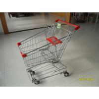 Quality Portable Wire Shopping Trolley Normal Flat Wheel With Anti UV Handle Cap for sale