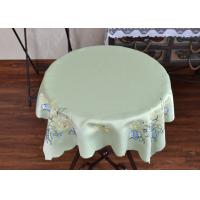 Chemical Fiber Light Green Table Cloth , Embroidered Square Table Cloths Manufactures