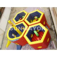Honeycomb Inflatable Fun City / 18 Oz PVC Inflatable Play Station For Kids Manufactures
