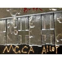 Quality OEM MgCa Magnesium Master Alloy Improve castability creep resistance and tensile strenth for sale