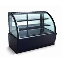 China Curved Glass Refrigerated Display Case Cabinet For Cakes And Bakeries on sale