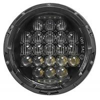 5D 7 Inch 105W White Jeep Wrangler Headlights Round Shaped IP 68 Waterproof Manufactures
