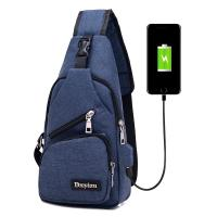 USB Charging Single Strap Backpack Leisure Canvas Couple Version For Business Trip Manufactures