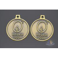 2D Model Element Metal Award Medals Antique Brass Plating Smooth Back Manufactures