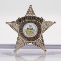 2.75inch Shinny Silver Plating Custom police badge with custom logo Manufactures