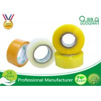 80M Length Clear Water Resistant Bopp Adhesive Tape High Temperature Manufactures
