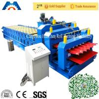 China Roof Wall Double Layer Roll Forming Machine 0 - 15m / min Manual Hydraulic Decoiler on sale