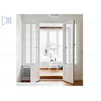 Quality Aluminium Alloy Arched Exterior Swing Doors , Series 90 Double Hinged Door for sale