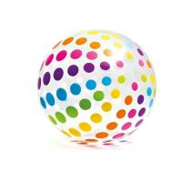 "Quality Jumbo Inflatable Beach Ball 42"" Large Diameter Crystal Clear-Translucent Dots for sale"
