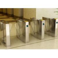Stainless Steel Flap Barrier Gate Turnstile, Half Height Turnstiles Access Control Manufactures