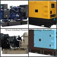 Water - Cooled 280kw Emergency Genset Open Electric Starting Perkins Cummins Manufactures