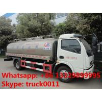 Quality factory sale best price dongfeng 8,000L milk truck for sale, hot sale stainless steel food grade liquid tank truck for sale