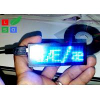 Quality Rechargable Blue Red Programmable Scrolling LED Sign USB Micro In Worldwide Languages for sale