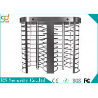Security Pedestian Full Height Turnstile With LED Count Display Function Manufactures
