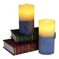 China Gradient Color Flameless LED Candle Fountain With Battery on sale