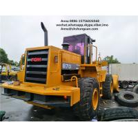 5000kg Rated Load Used Wheel Loaders Payloader 870 Close Cab Used Loader Manufactures
