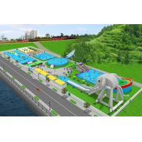 PVC Material Customized Inflatable Products / Water Park Games For Outdoor Manufactures