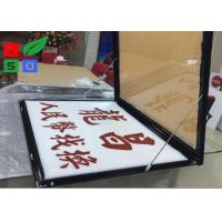 Quality Door Open LED Light Box Sign , Size A2 Lockable Poster Frame For Restaurant for sale