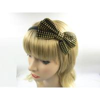 China Bowknot Golden Silver Women Hair Bands For Short Hair , Middle Size on sale