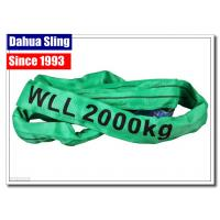 China Single Ply Round Endless Sling Heavy Duty Recovery Straps With Logo Printed on sale
