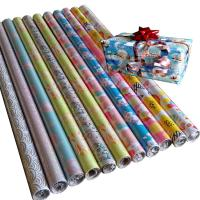 China 30inch x 120inch  80gsm coated paper wholesale gift wrapping  paper rolls on sale