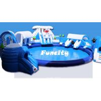 Custom Size Giant Inflatable Water Park Equipment On Land For Amusement Park Manufactures