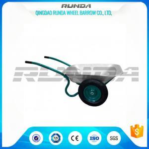 Buy cheap Galvanized Color Double Wheel Wheelbarrow6CBF 1.2mm Tray Thickness 13.9kg from wholesalers