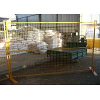 """6FT X 9.5FT Powder COATED canada standard temporary fence panels mesh spacing 2""""x8""""x8ga diameter tubing 30mm RHS x 1.6mm Manufactures"""