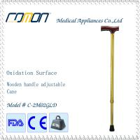 Eladerly Cane with Wood Handle Gold Color Manufactures