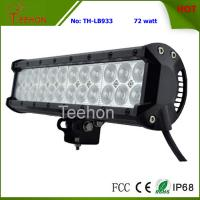 72W 12 Inch Double Row LED Light Bar for 4X4 auto,LED spot light or LED flood light beam Manufactures