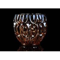 315ml Dimpled Shape Glass Candle Jars with Color Sprayed Electroplated Effect Manufactures