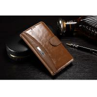 Light Brown Redmi Pro Leather Case , Crazy Horse Leather Redmi Pro Flip Cover Manufactures