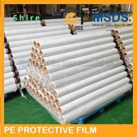 Eco Friendly Self Adhesive Plastic Film , EPS Sandwich Board Surface Guard Film Manufactures