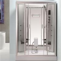 Back Massage Jets Jacuzzi Shower Enclosures , Shower Steam Room Combo With Fold Up Seat Manufactures
