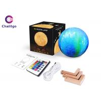 Buy cheap Personalized Moon Led Night Light 5.9 Inch With Stand 16 Colors RGB from wholesalers