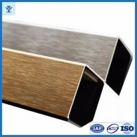 Brushed Gold Color Anodized Aluminum Angle Profiles for Decoration Material Manufactures