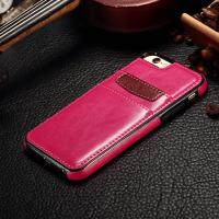 IPhone 6 Plus Leather Back Cover 5.5 Inch Snap On Two Credit Card Slots Manufactures